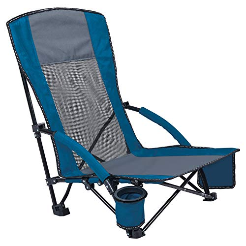 Asteri Low Beach Chair Camping Chair Foldable with Carry Bag 600D Oxford...