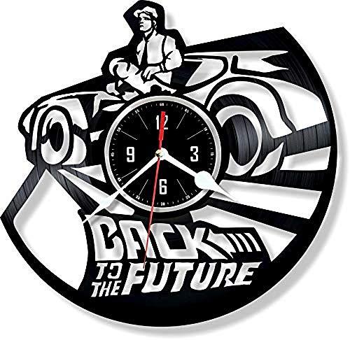 Aiyoubu Regreso al futuro Reloj Gran regalo paraaniversario ocasión Hermosa decoración para el hogar Diseño único que se de vinilo retro