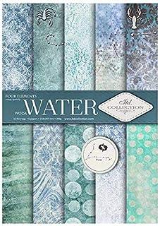 ITD Collection - Papier pour Scrapbooking, Ensemble de Papier Décoratif Scrapbook A4, 5 Feuilles de Papier 210x297 mm (Water)