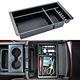 JKCOVER Compatible with (2014 2015 2016 2017 2018) Chevy Silverado/GMC Sierra, (2015-2020) Chevy Suburban/Tahoe/GMC Yukon Center Console Organizer Tray Accessories - Full Console w/Bucket Seats ONLY