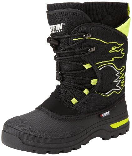 Baffin Flame Snow Boot (Little Kid),Black/Fluorescent Green,11 M US Little Kid