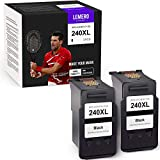 LemeroUtrust Remanufactured Ink Cartridge Replacement for Canon 240 240XL PG-240XL use with Canon PIXMA TS5120 MG3620 MG3520 MG2120 MX432 MX472 MX452 MX532 (Black, 2-Pack)