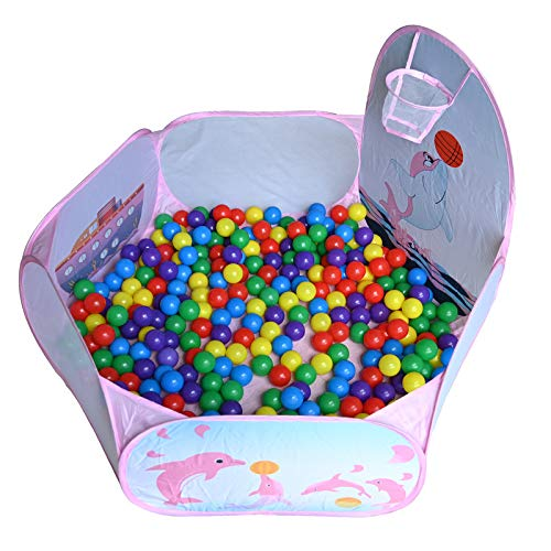 RASENFREUND Juego de 700 bolas con piscina de bolas de 5,5 cm de diámetro, para niños y bebés, de plástico, para piscina de bolas, 700 unidades, 120 cm, color rosa