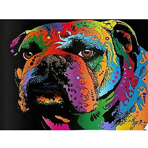 QMGLBG Puzzle de Madera de 1000 Piezas Color Animal Perro Rompecabezas clásico Adulto Juvenil Rompecabezas Ocio Familia Juego de Juguete para Padres e Hijos Regalo Decoración