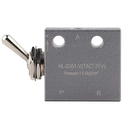 HL2301 Válvula de Interruptor de Perilla Neumática de Aire de 3 Posiciones y 2 Válvulas Válvulas de Interruptor de Palanca de Metal Válvula de Aire Mecánica Neumática