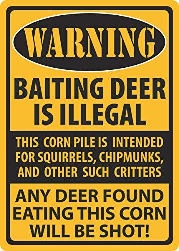 Ríos Edge Products señal de Advertencia de, 30,48cm por cm, Ciervos para Cebo de Pesca,