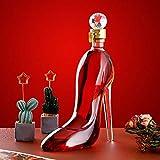 Botella De Vidrio De Whisky De Tacón Alto, Cuerpo De Botella De Vidrio 100% Sin Plomo, La Forma Elegante Es La Favorita De Y Mujeres, 350ml