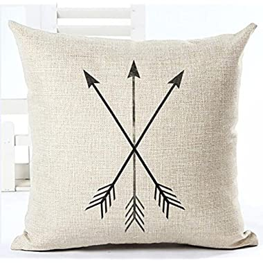 Feather Arrow Magic squares Cotton Linen Throw Pillow Case Cushion Cover Home Sofa Decorative 18 X 18 Inch (7)