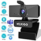 2020 [Upgraded] 1080P Webcam with Microphone & Privacy Cover, NexiGo USB FHD Web Camera, Plug and Play, Noise Reduction, for Zoom Skype MS Teams Online Teaching, Laptop MAC PC Desktop