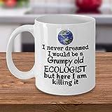 Tazza ecologica regalo brontoloso vecchio ecologista divertente ecologista regali pensionamento madre terra consapevolezza movimento natura amante ambientale 425,2 g