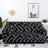 WXQY Funda de sofá a Cuadros elástica para Sala de Estar, Funda de sofá Antideslizante, combinación de Todo Incluido, Funda de sofá de Esquina en Forma de L, A25, 2 plazas