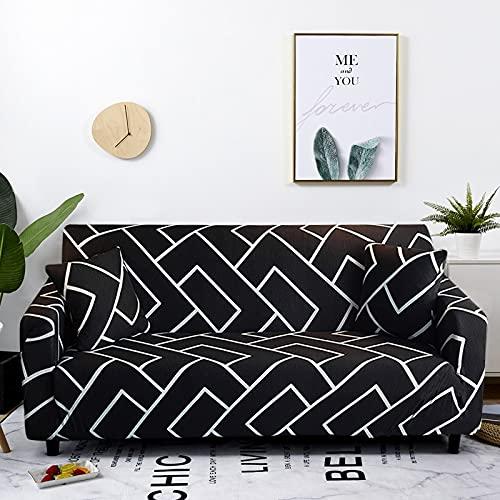 WXQY Wohnzimmer elastische geometrische Sofabezug All-Inclusive-Sofabezug elastische L-förmige Ecksofabezug A25 1-Sitzer