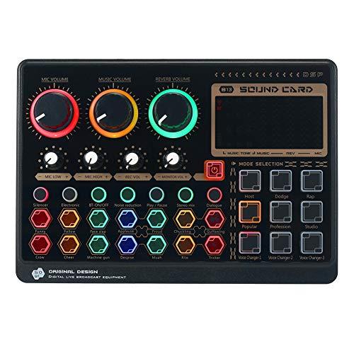 Fltaheroo Tarjeta Mezcladora de Sonido Multifuncional Tarjeta de Sonido en Vivo Externa X6Mini para TransmisióN de MúSica en Vivo, GrabacióN de Karaoke, Canto