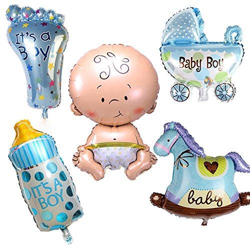 GGG 5 ?pièce jeunes enfants voiture biberon feuille ballons party bébé douche décoration - garçon