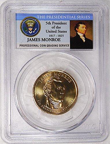 2008 P Pos. B James Monroe Presidential Dollar PCGS MS 66 FDI...