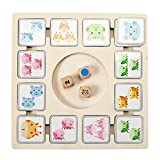 TOYANDONA 1 Set Kids Animal Cards Board Game Funny Board Game Premium Board Juego