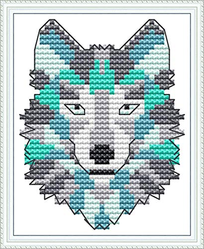 11CT 3 Strands Embroidery Crafts Needlepoint Kits for Beginner Kids Adults Cross-Stitching Pattern for Wall Decor Stamped Cross Stitch Kits Color Cow 16X20 inches