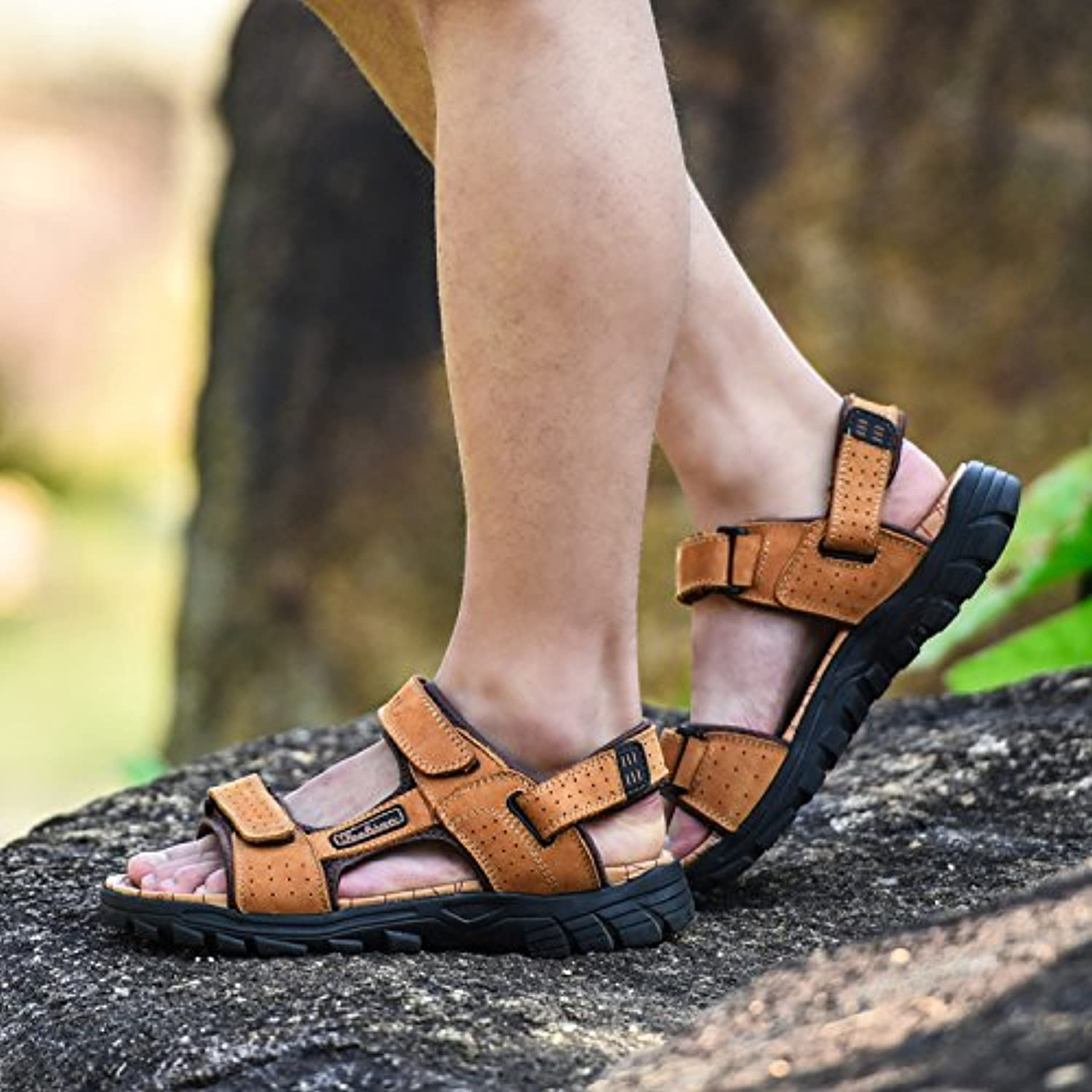 Men's leather sandals sandals Summer Youth
