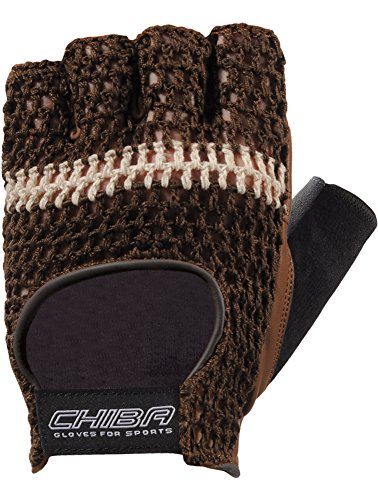 Chiba Handschuh Athletic - Guantes para Fitness, Color marrón, Talla M