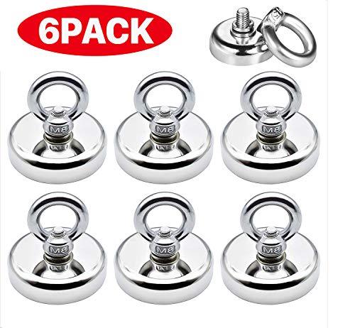 Magnethaken,32 mm Stark Neodym Ösenmagnet Magnet haken,Neodym Magnet Haken hält 80 LBS(36KG),Super Starker Magnete mit Haken