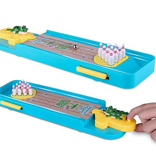 Xhtoe Bowlingspielzeug Mini Bowling-Spiel, Mini Desktop Bowling-Spiel Mini Tabletop Bowling Toy Classic Desk für Kinder Kinder (Color, Size : 34 * 10 * 2.5cm)