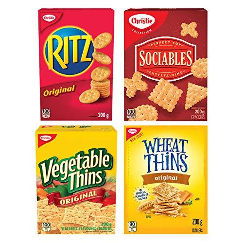 CHRISTIE Entertainment Crackers Variety Pack, 4 Packs, 800 Grams