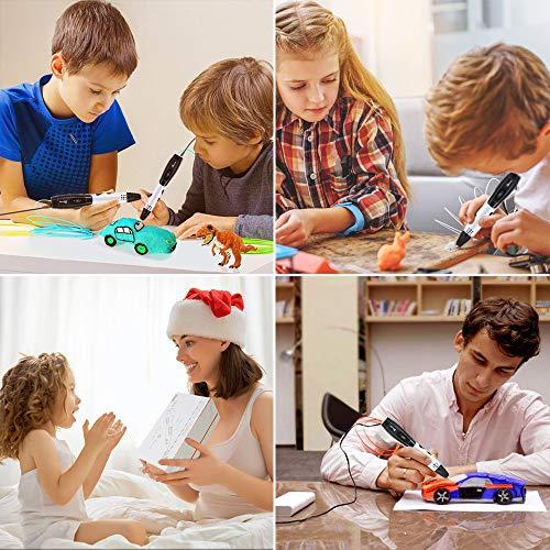 3D Stifte für Kinder mit LCD Display, 3D Druckstift, 3D Stift Set mit 1,75 mm PLA Filament für Kinder, Erwachsene, Kritzelei, Zeichnung und Kunst & handgefertigte Werke - 3