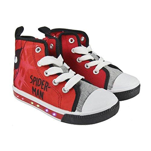 Spiderman Sneaker Sportschuh mit Blinklichtern Gr. 32 2300-2942