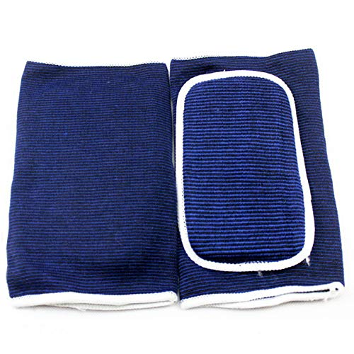 2 Pieces of Elbow Protector Protector Arm Support Elbow and Knee Protector Volleyball Basketball Elastic Sleeve Protection Blue