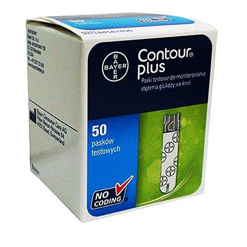 Bayer Contour PLUS Diabetic Blood Glucose Test Strips 50