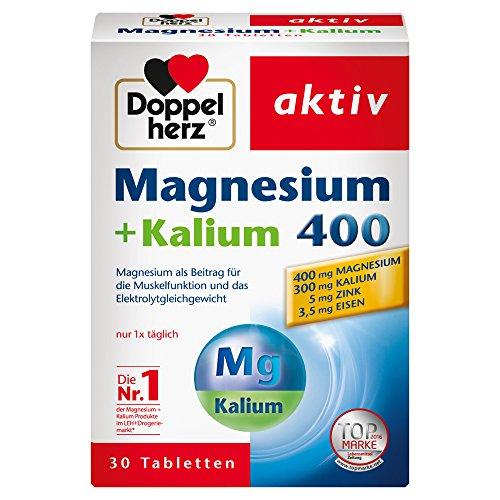 Doppelherz Magnesium + Kalium 400 – Für die normale Muskelfunktion und das normale Nervensystem – 30 Tabletten