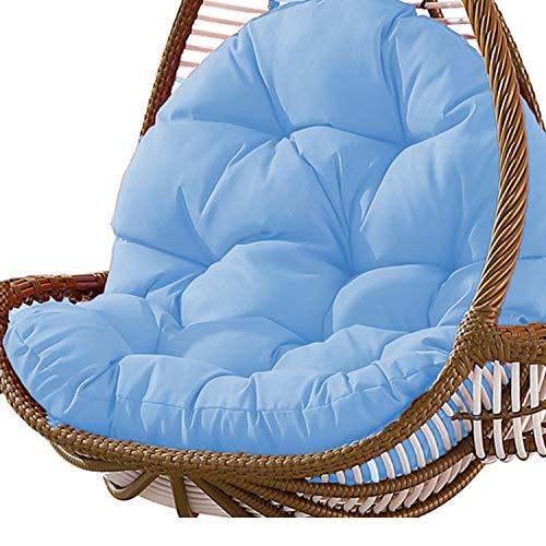 Columpio Canasta colgante Cojín del asiento Almohadillas para silla de hamaca de huevo colgante espesadas para el patio del hogar Jardín 31 x 47 pulgadas Azul
