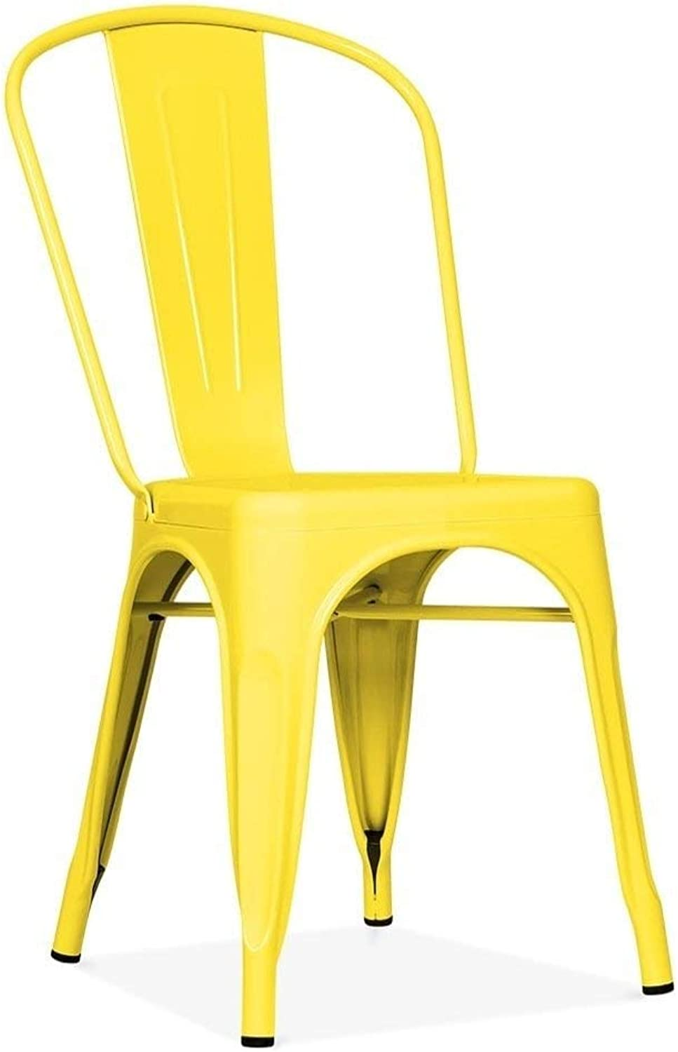 Tolix Style Dining Chair, Yellow