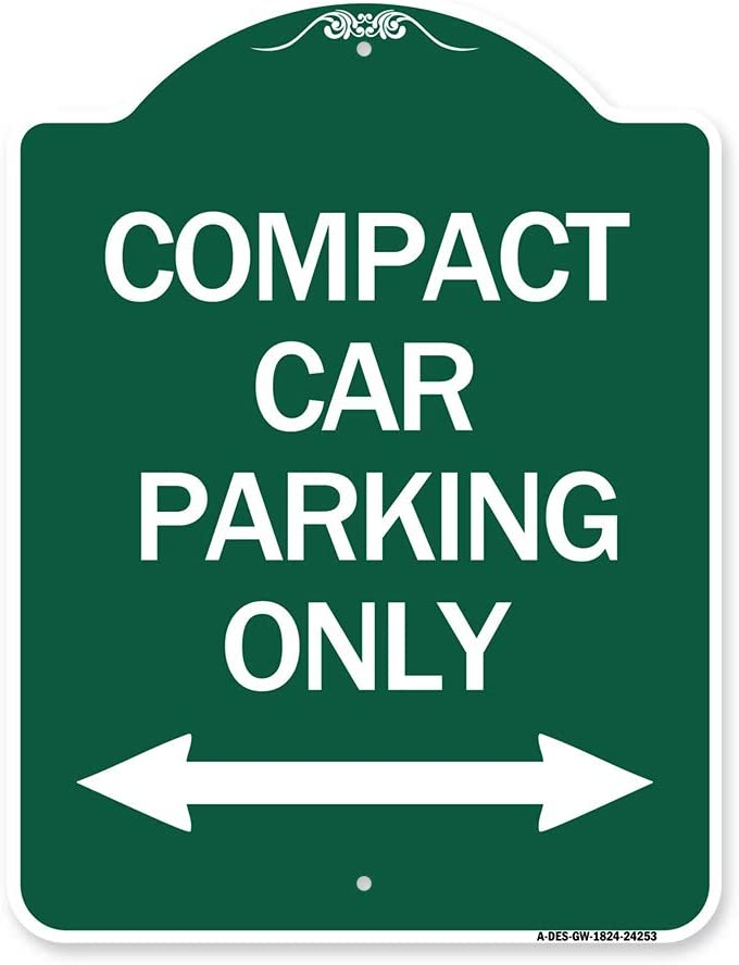 SignMission Designer Series Limited Special Price Sign - Compact NEW before selling Car Parking Only wit