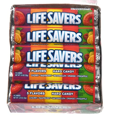 Life Savers 5 Flavors 1.14oz (32g roll) - 10pack