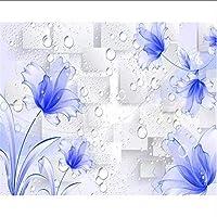 Djskhf 壁紙壁画美しい夢紫の花蝶3Dテレビ背景壁紙家の装飾壁画3D壁紙 200X140Cm