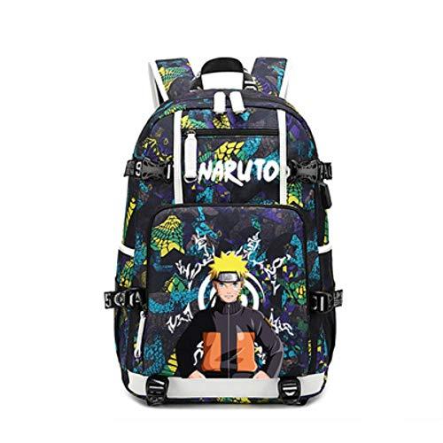 Xcmlz Sasuke Naruto Cosplay Backpack Laptop Travel Bags USB Oxford 3