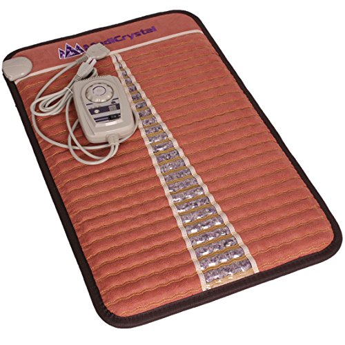 MediCrystal Far Infrared Amethyst Mats - Hot Stones - Negative Ions - FDA Reg Manufacturer - Red Brown (Mini 32'L x 20'W)