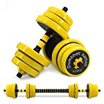 VIVITORY Adjustable Dumbbells Barbell Set, Free Weights 2-in-1 Set, Up to 44/66 Lbs, Fitness Dumbbells with Connecting Rod Used As Barbell, Solid Weight Plates with TPU Cover, Home Gym Equipment