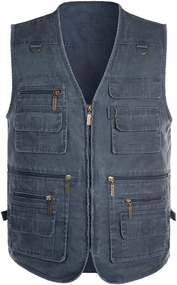 Fishing Albuquerque Mall Vests for Men Vest Super popular specialty store S Pocket Multi Outerwear