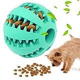 Juguetes para Perros , Jkevow,Cachorros Snack Interactivo Juego de Inteligencia Bola de Goma, No Tóxica, Resistente a Las Mordeduras, Bola de Limpieza de Dientes para Masticar (Azul, 5cm)