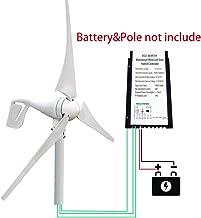 ECO LLC 400W DC 12V/24V Wind Turbine Generator with Solar-Wind Hybrid Controller IDAL for Solar-Wind Hybrid Power Supply System for Windy Remote Area