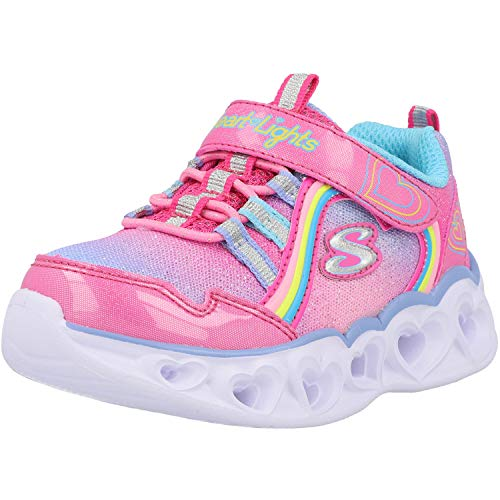 Skechers Mädchen Heart Lights Rainbow LUX Sneaker, Pink, 25 EU