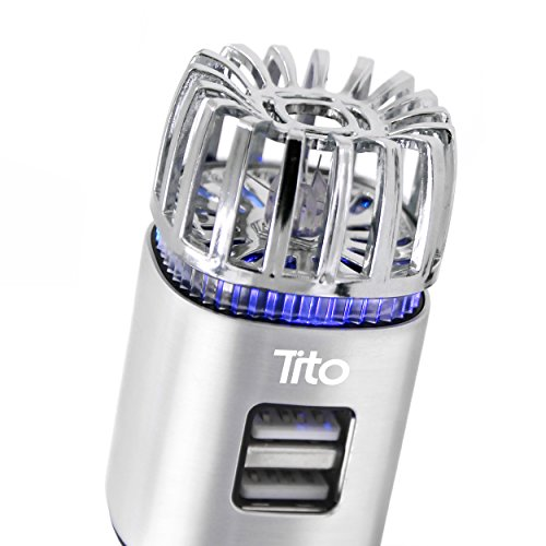 Tito's Dynamic Multipurpose Car Air Purifier, Ionizer, and Anti-Microbial Deodorizer w/Powerful 2.1...