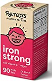 Renzo's Iron Strong, Dissolvable Vegan Vitamins for Kids, Zero Sugar, Oh-Oh-Oh Orange Flavor, 90 Melty Tabs