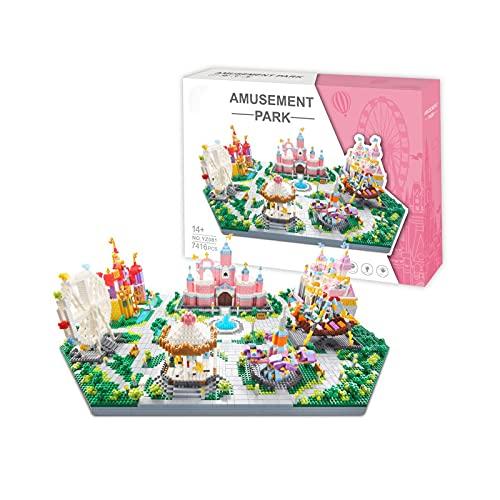 Arquitectura 3 en 1 Castillo de Fantasía Micro Mini Bloques de Construcción (7416 Piezas) Modelo Set Juguetes Regalos para Niños y Adultos