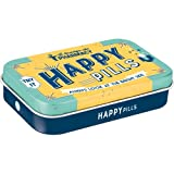 Nostalgic-Art 82104 Nostalgic Pharmacy - Happy Pills| Pillen-Dose XL | Bonbon-Box | Metall | mit Pfefferminz-Dragees