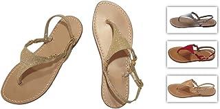 Sandali Artigianali Donna Capresi Moda Capri Sorrento Positano 100% Made in Italy Personalizzabili Pelle, Camoscio, Glitte...