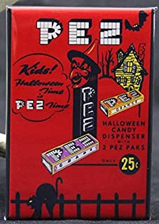 Pez Halloween Candy Ad Refrigerator Magnet.