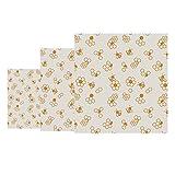 Nuts FB426 - Confezione da 3 fogli di cera d'api a nido d'ape, colore: giallo/marrone...